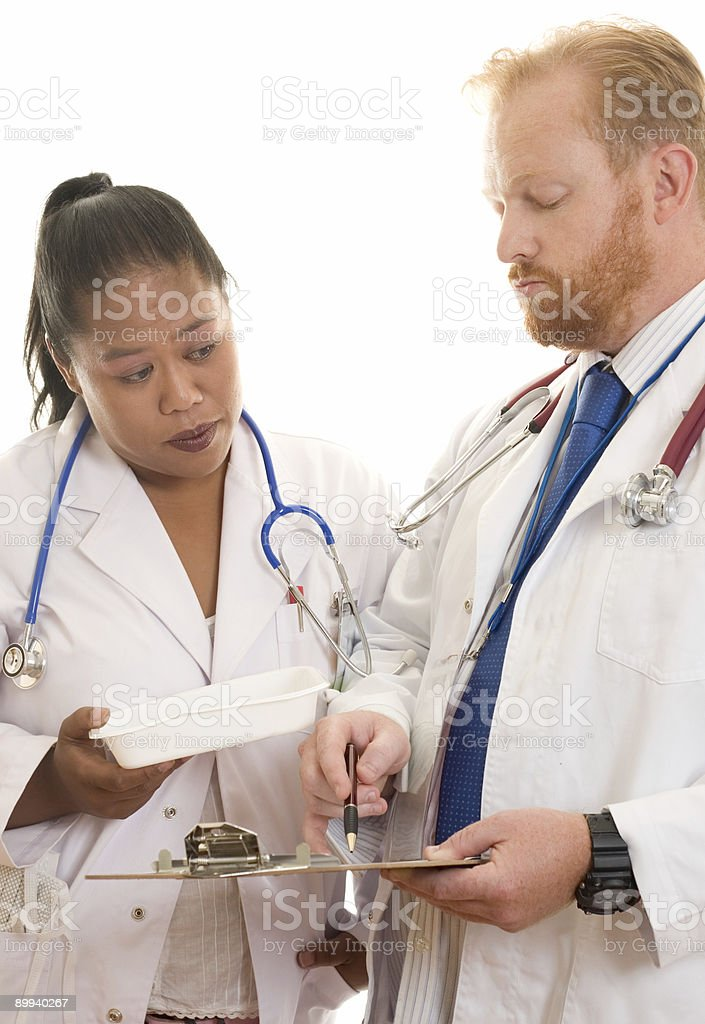 Doctors at work royalty-free stock photo