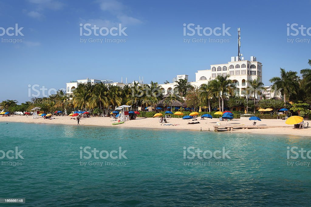 Doctors Cave Beach in Montego Bay stock photo