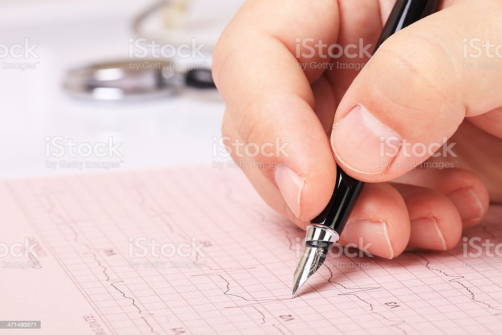 Doctor's Chart royalty-free stock photo