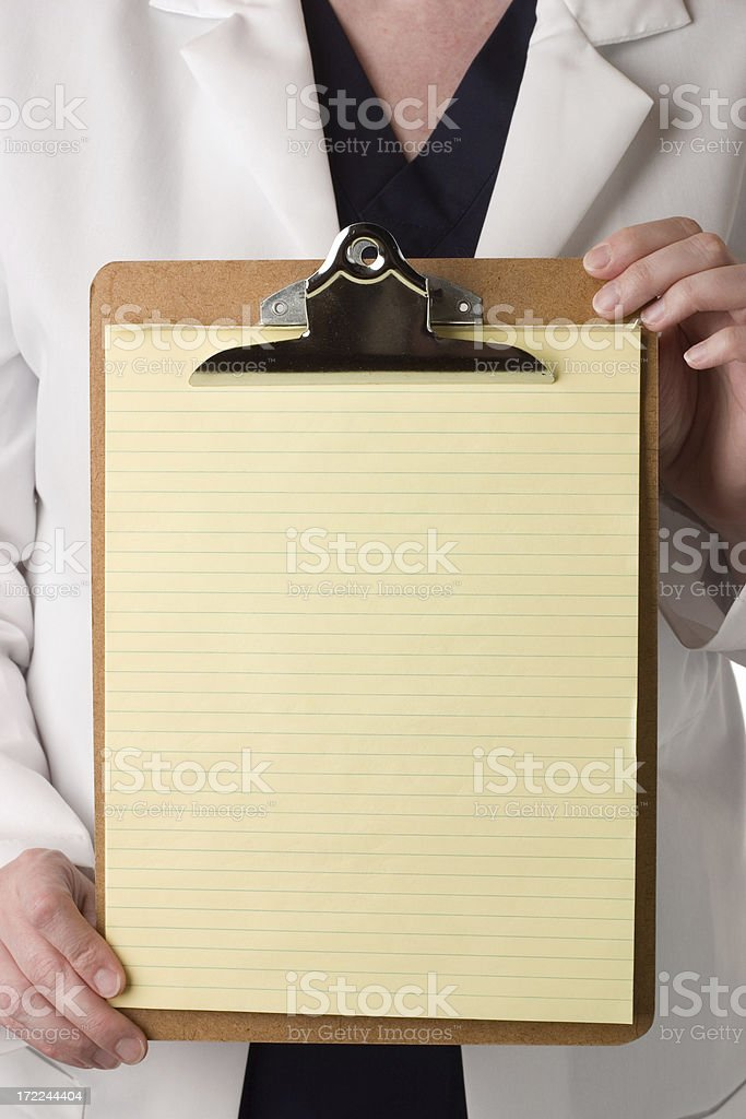 Doctor's Clipboard royalty-free stock photo