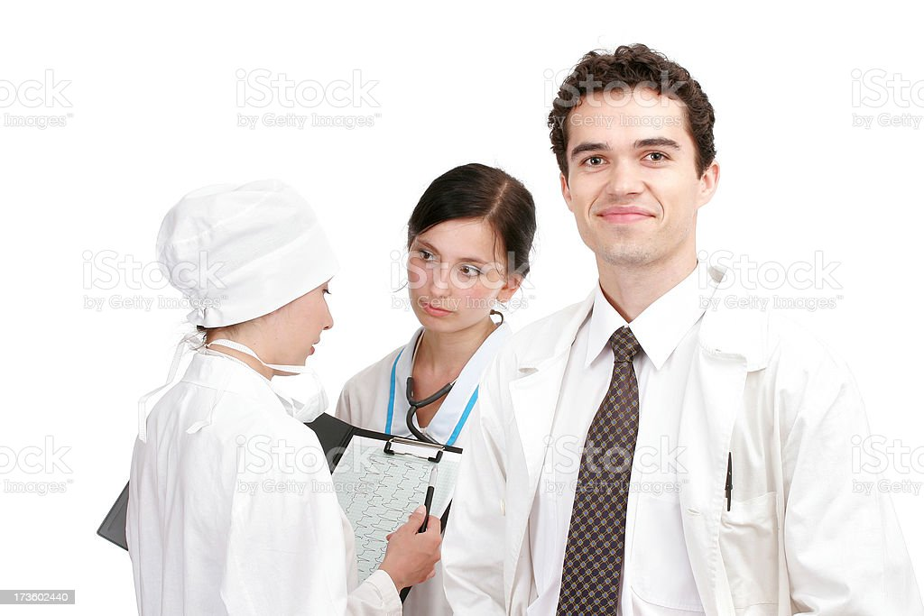 Doctors confering royalty-free stock photo