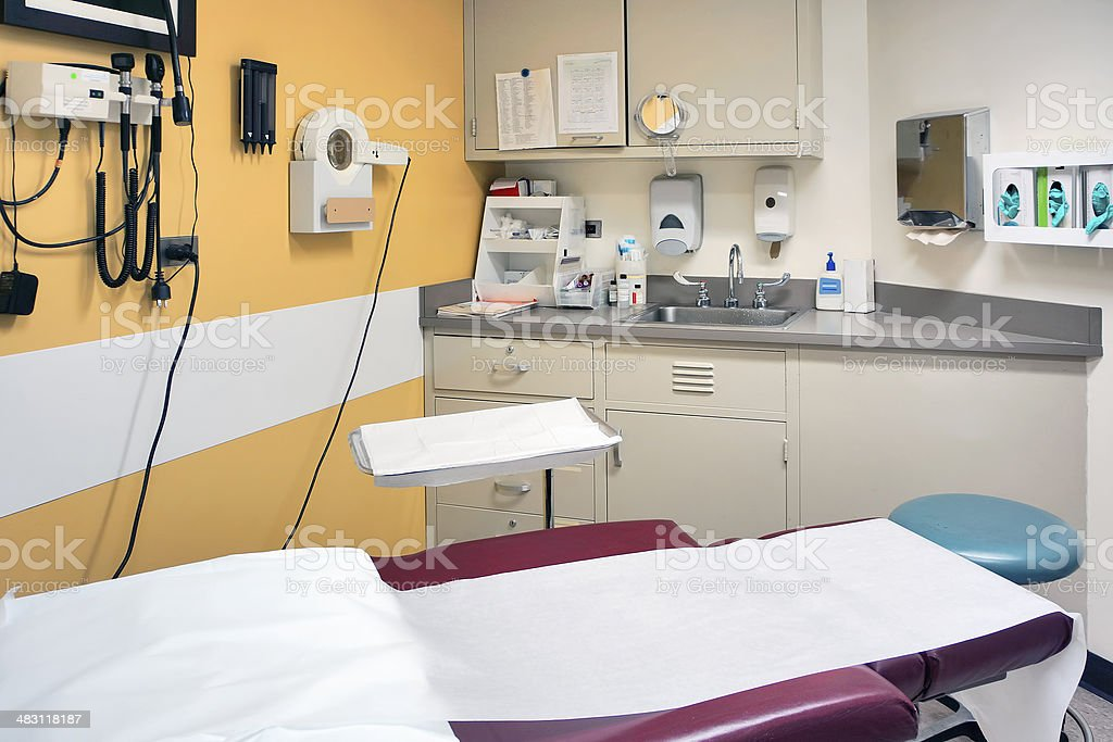 Doctor's examination and procedures room stock photo