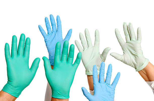 Doctors helping hands stock photo