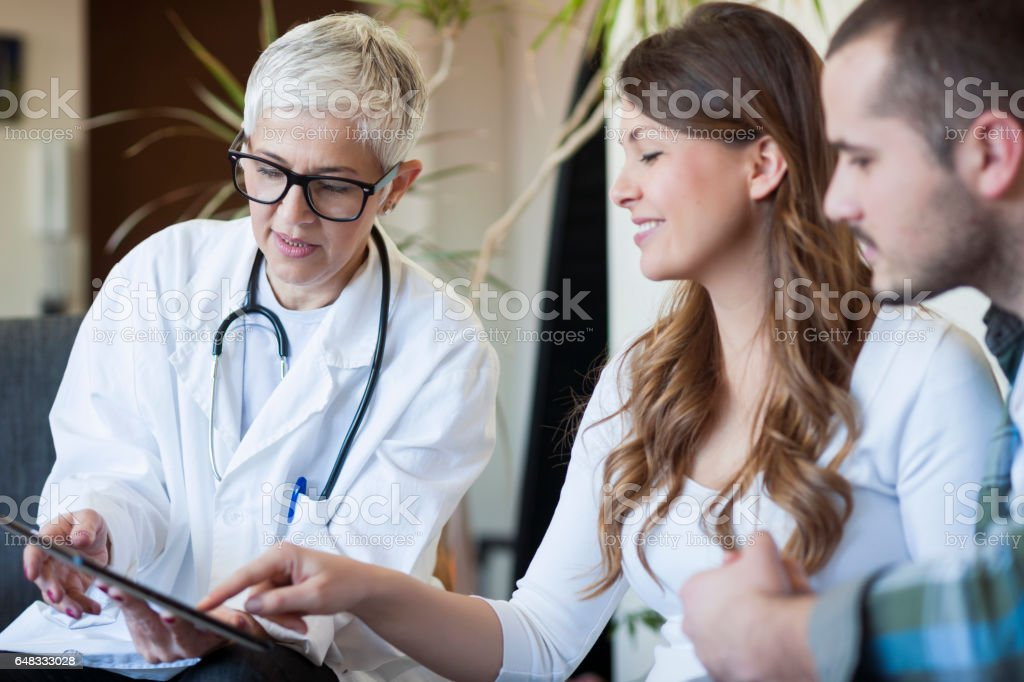 Doctors home visit stock photo