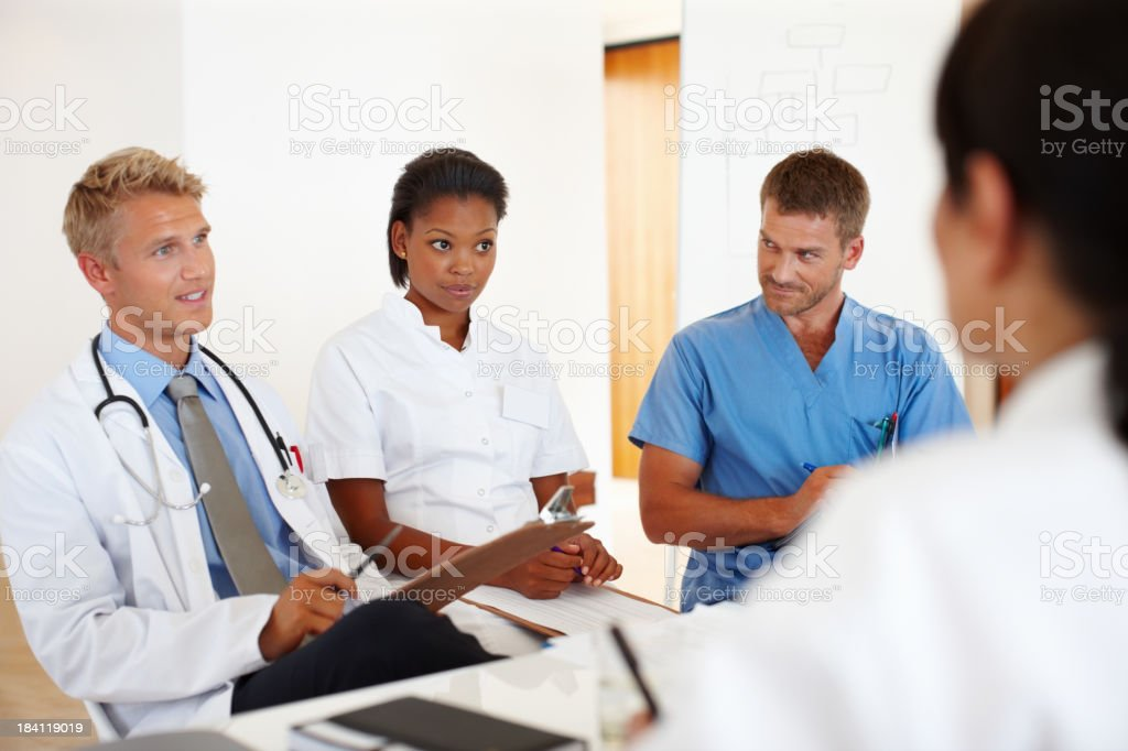 Doctors in conversation royalty-free stock photo