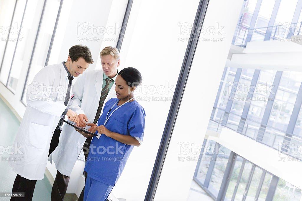Doctors in Corridor stock photo