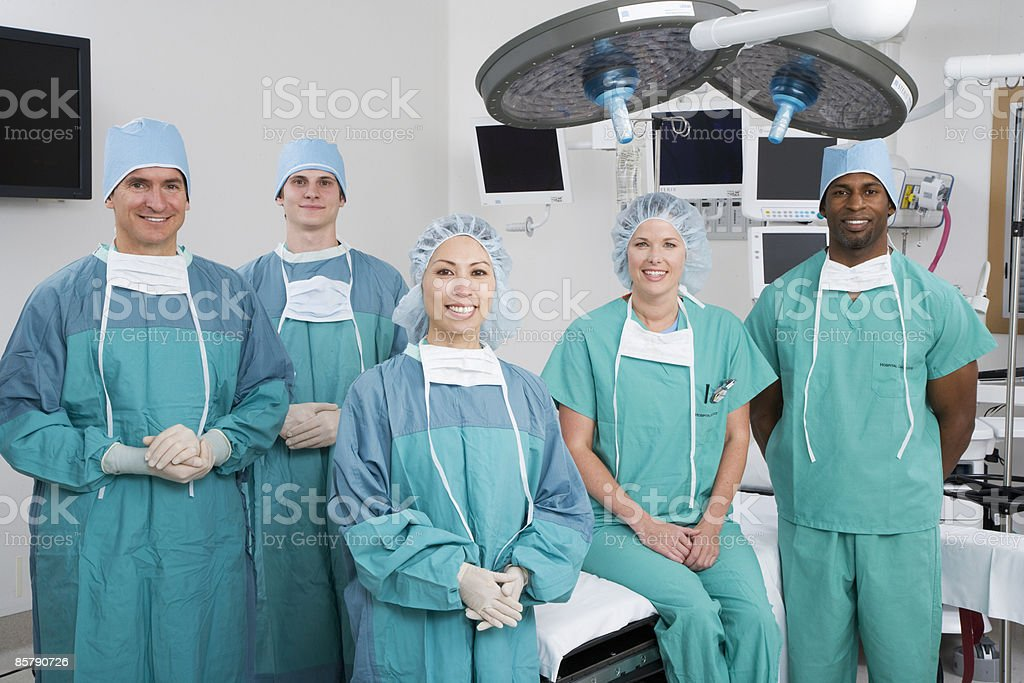 Doctors in Operating Room  royalty-free stock photo