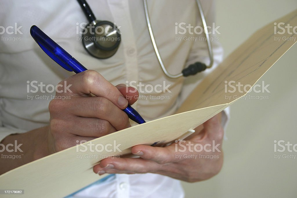 doctor's medical notes royalty-free stock photo