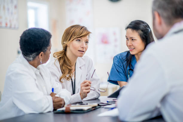 Doctors Meeting stock photo