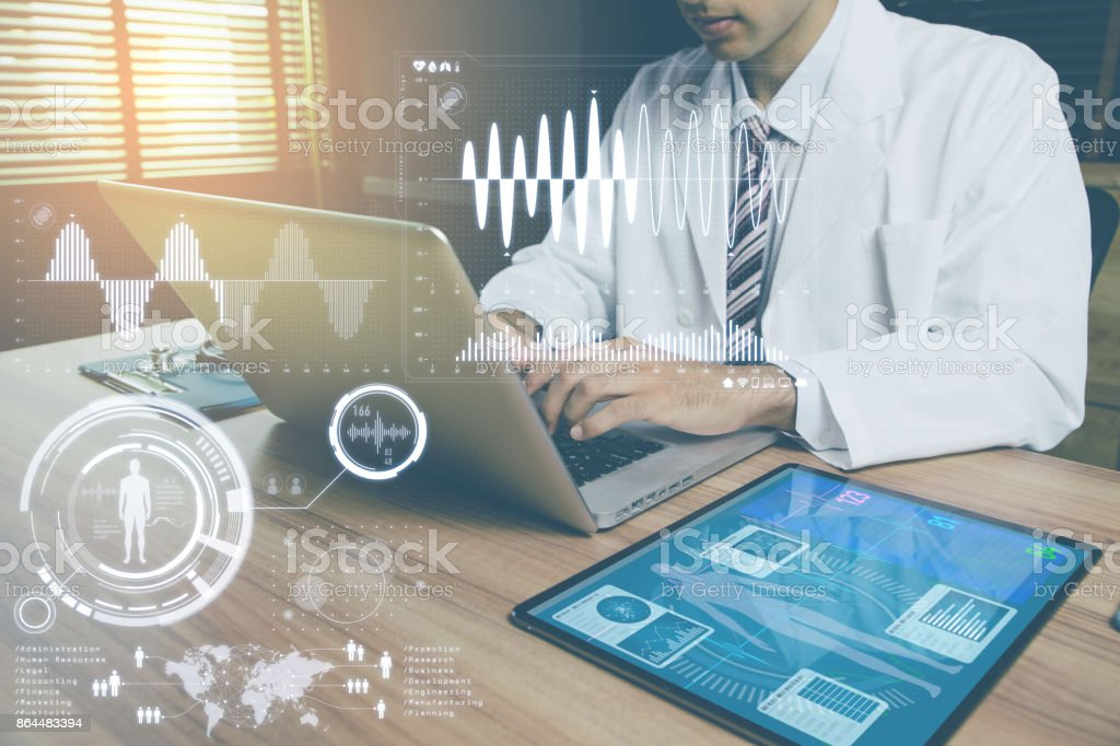 doctor's office. medical technology concept. stock photo