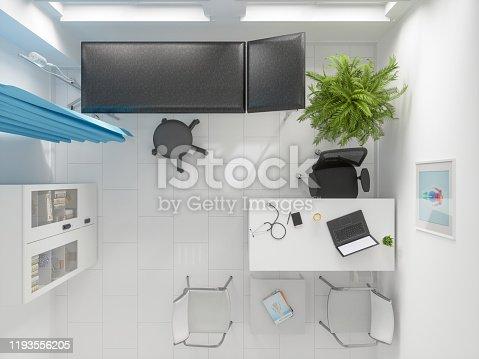 894029864istockphoto Doctor's Office, Overhead View 1193556205