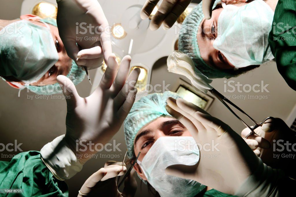 Doctors on an operation royalty-free stock photo