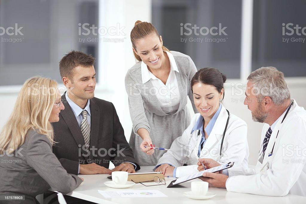 Arzt auf business-meeting. Lizenzfreies stock-foto