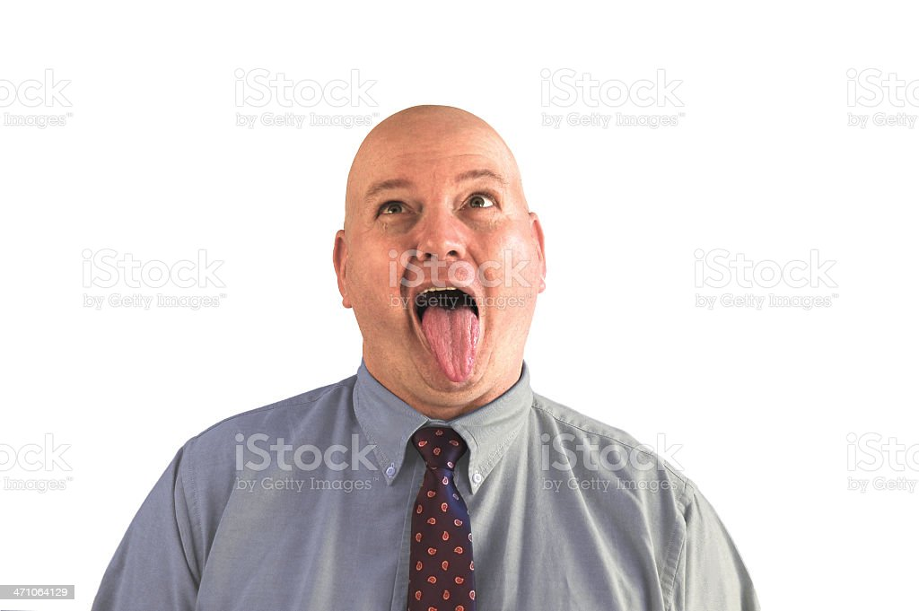 Doctor's Patient Sticks Out Tongue royalty-free stock photo