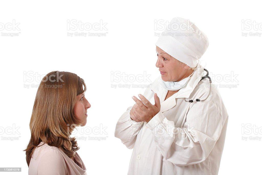 Doctor's prescription royalty-free stock photo