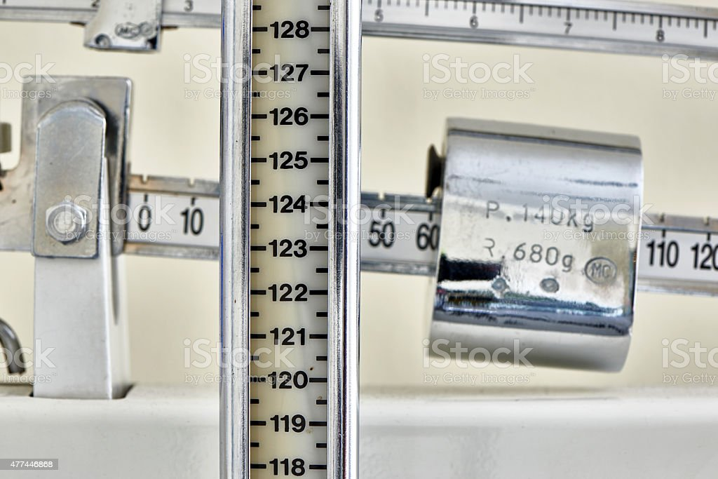 Doctor's scale stock photo