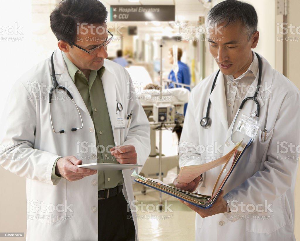 Doctors talking royalty-free stock photo