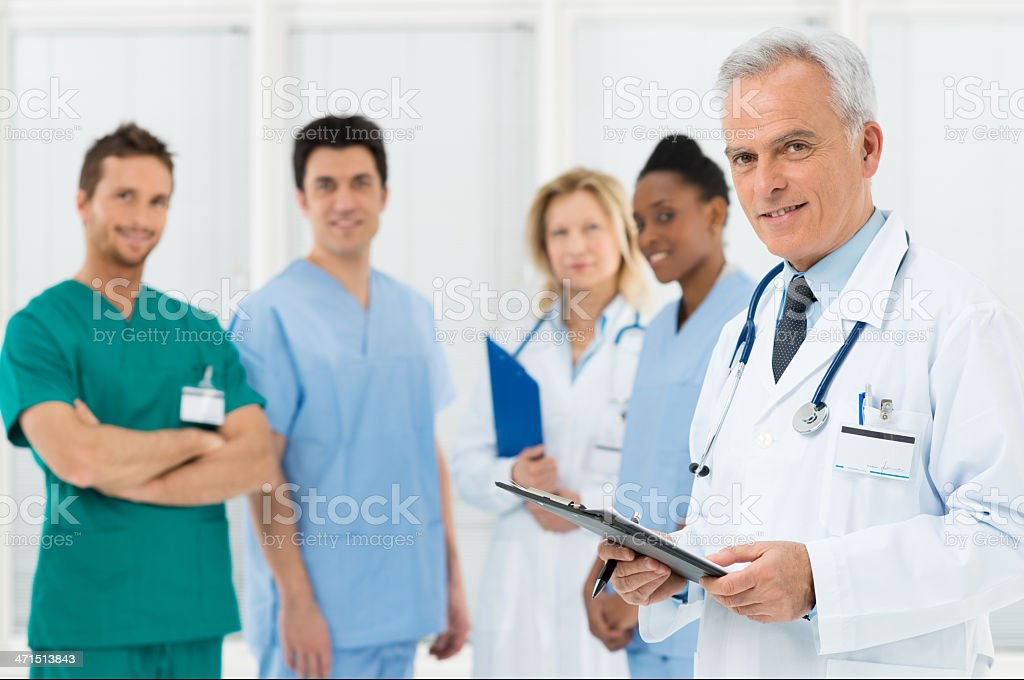 Doctors team at hospital royalty-free stock photo
