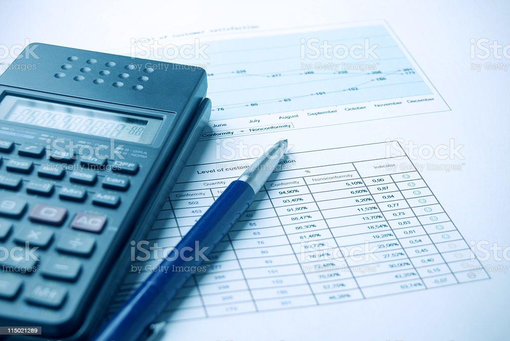 Document analysis royalty-free stock photo