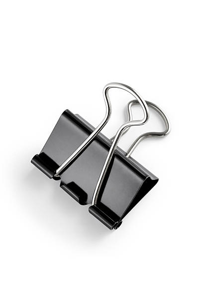 Document binder clip with clipping path stock photo