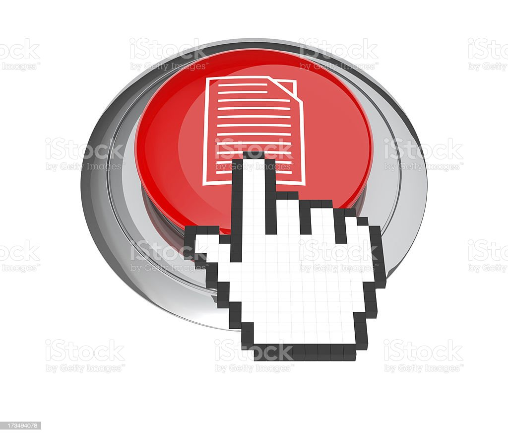 Document Button royalty-free stock photo