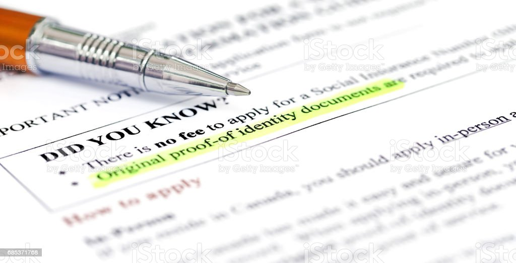 Document checklist for Visa application Canada royalty-free stock photo