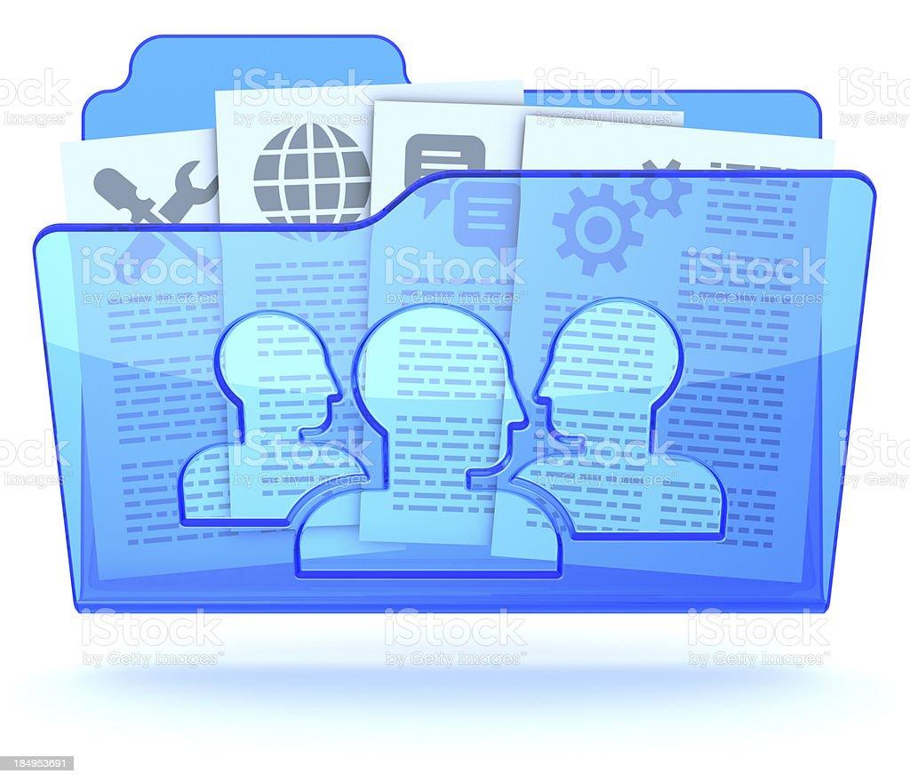 Document collaboration shared folder stock photo
