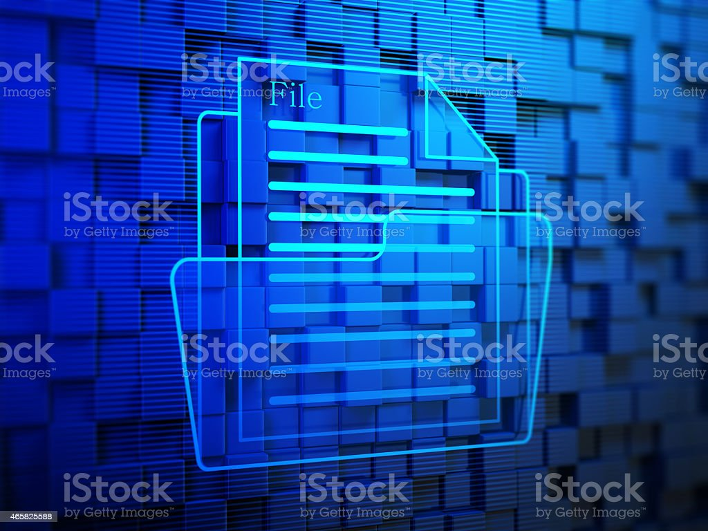 Document on Blue Background stock photo
