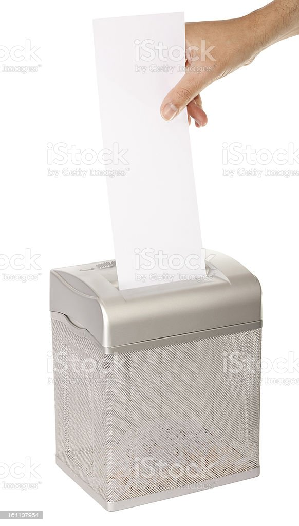 Document Shredder stock photo