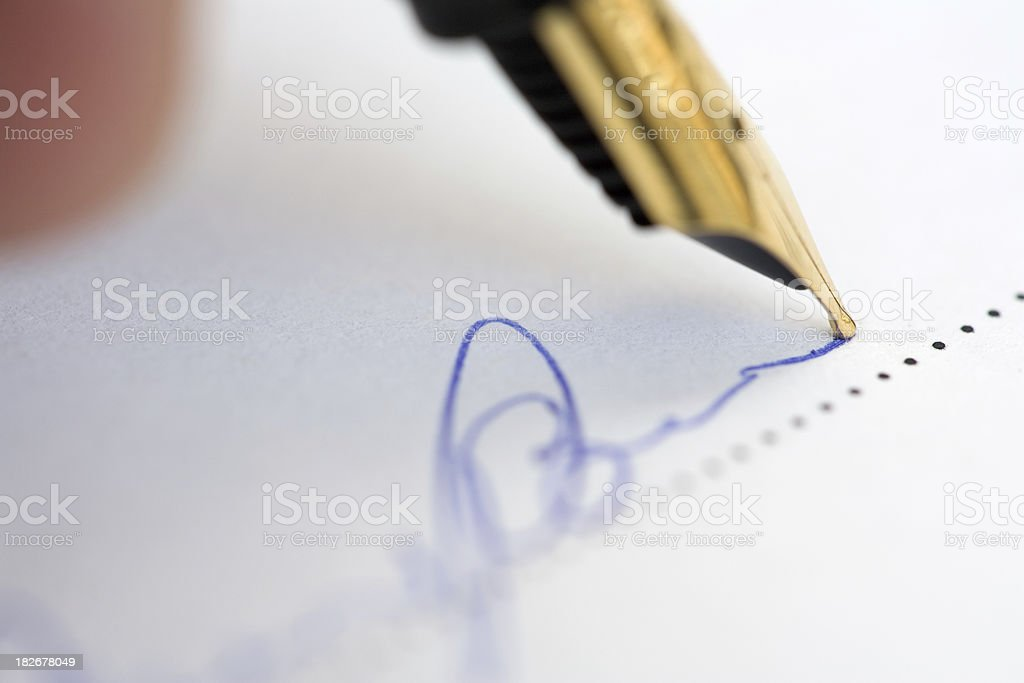 Document Signing royalty-free stock photo