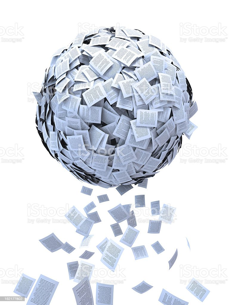 Document sphere royalty-free stock photo