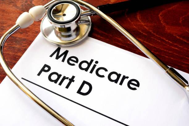 Le document avec le titre de l'assurance-maladie partie D. - Photo
