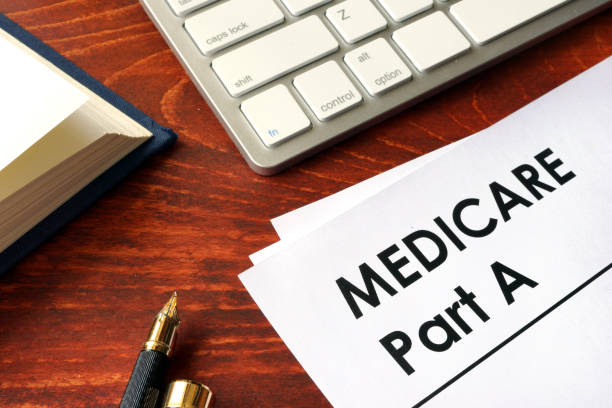document with title medicare part a. - part of stock photos and pictures