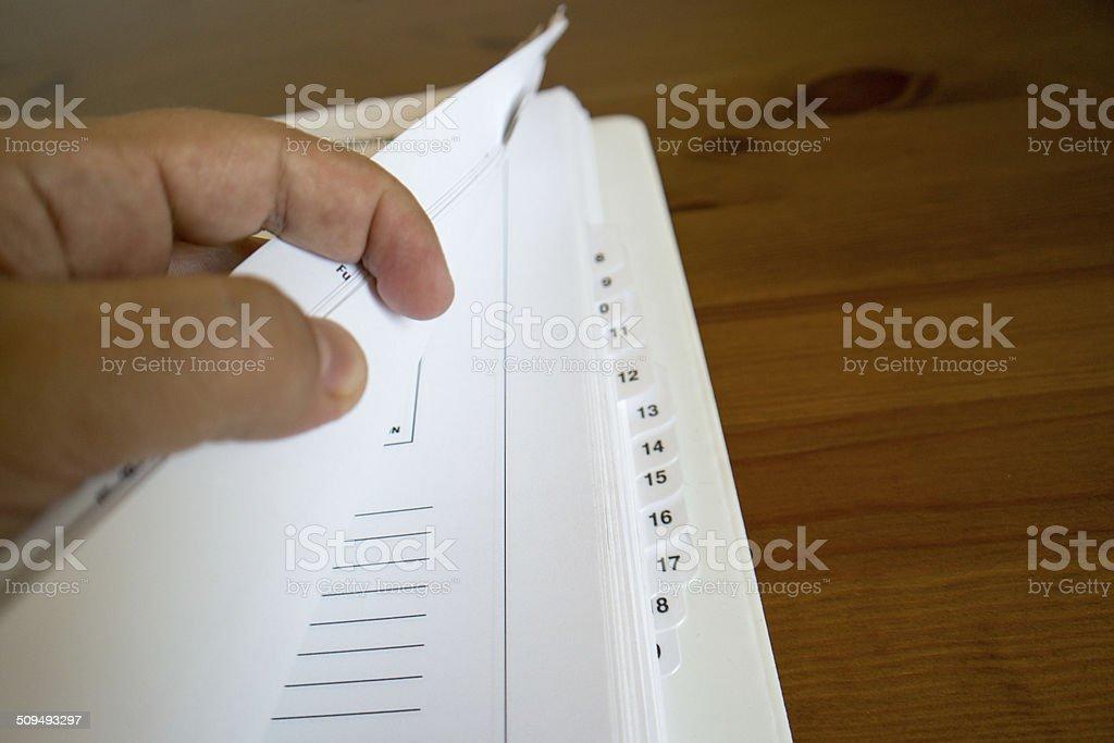 Documentation stock photo