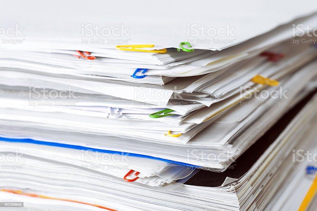 Los documentos - foto de stock