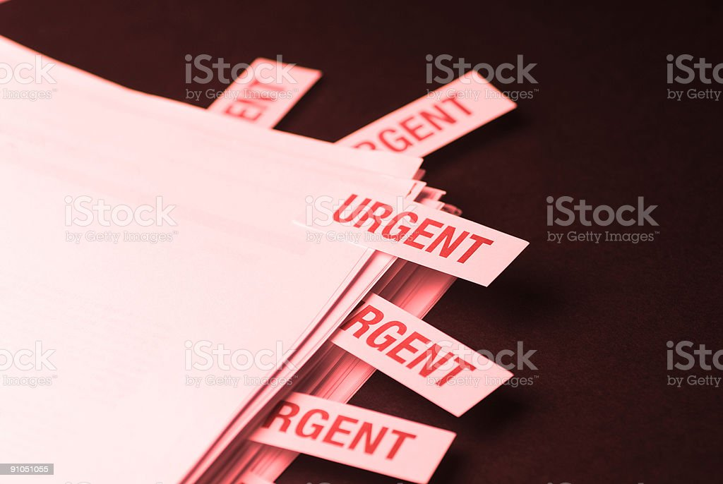 'URGENT' Documents - Red Version royalty-free stock photo
