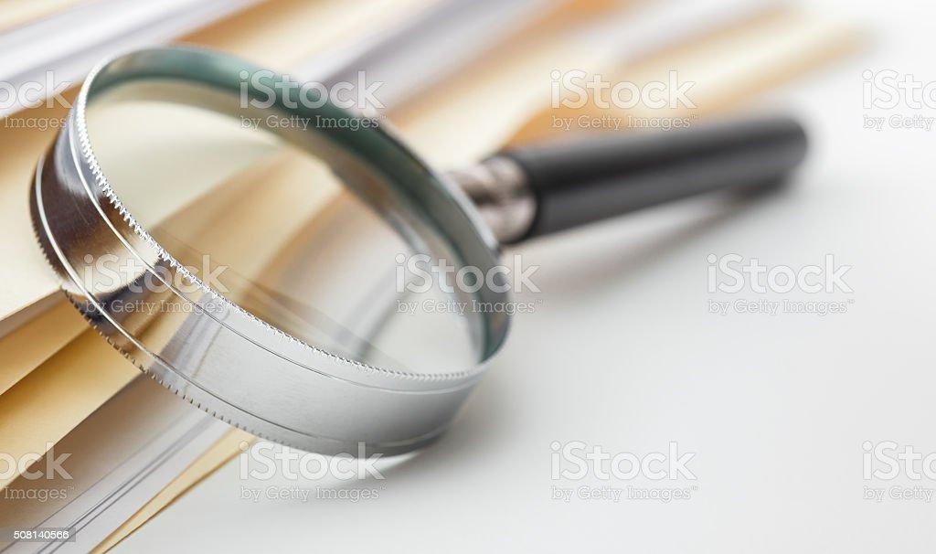 Ricerca documenti - foto stock
