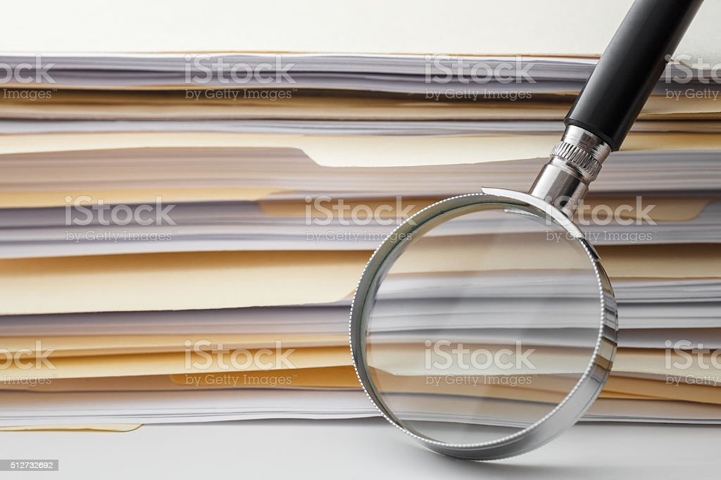 Documents Search stock photo