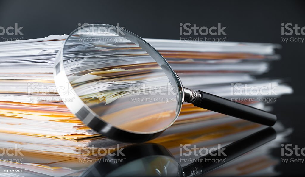 Documents Search royalty-free stock photo