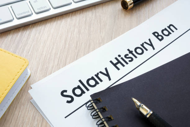documents with title salary history ban. - disbarment stock pictures, royalty-free photos & images
