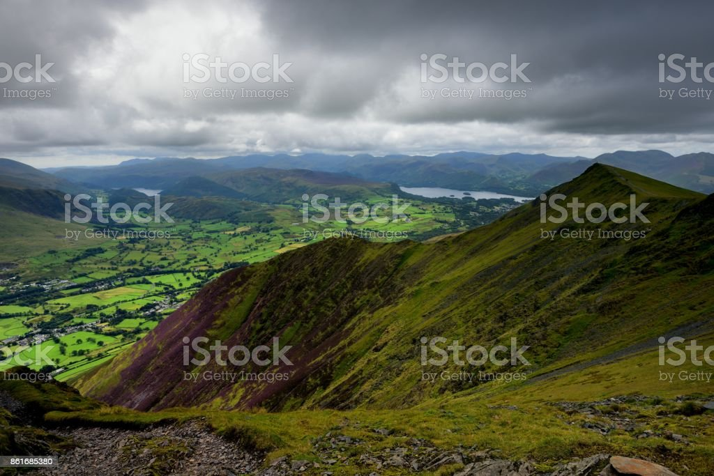 Doddick Fell ridge line stock photo