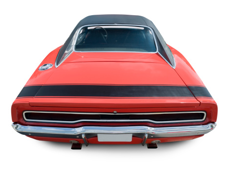 An all original 1970 Dodge Charger. Clipping Path on Vehicle.