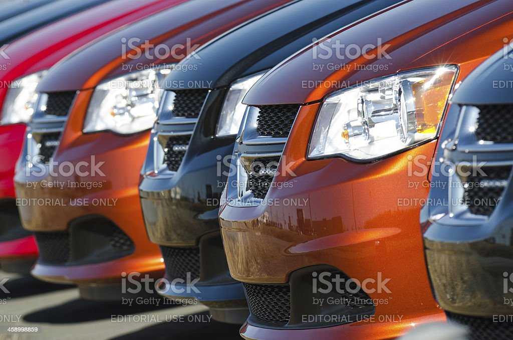 Dodge Grand Caravans royalty-free stock photo