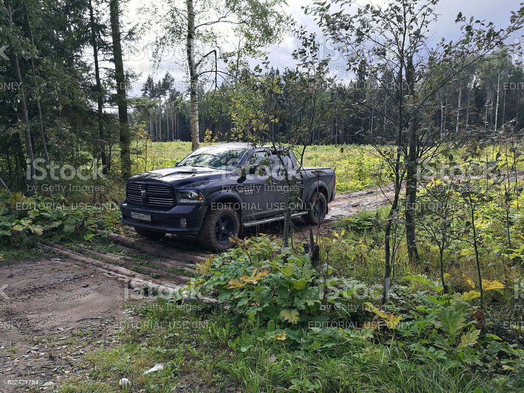 Dodge Ram On Mt Weels After Light Offroad Stock Photo Download Image Now Istock