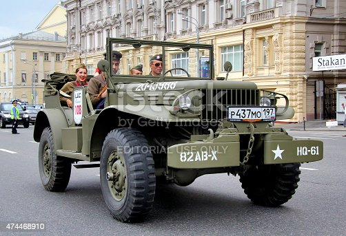 Moscow, Russia - June 2, 2013: American command car Dodge WC-57 competes at the annual L.U.C. Chopard Classic Weekend Rally.