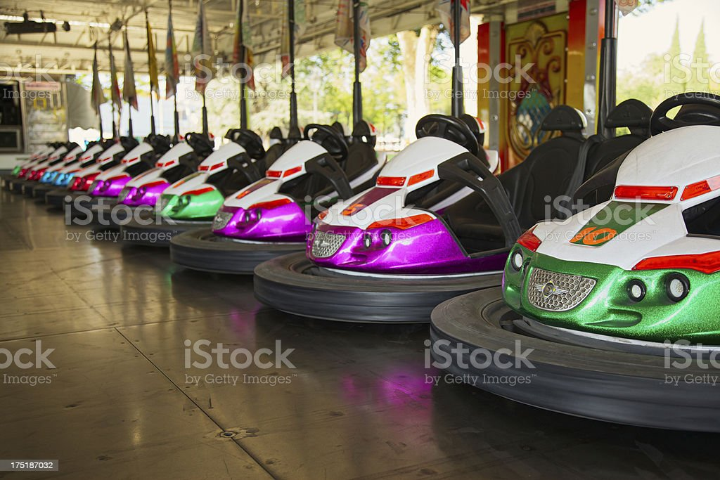 Dodgem at the amusement park stock photo