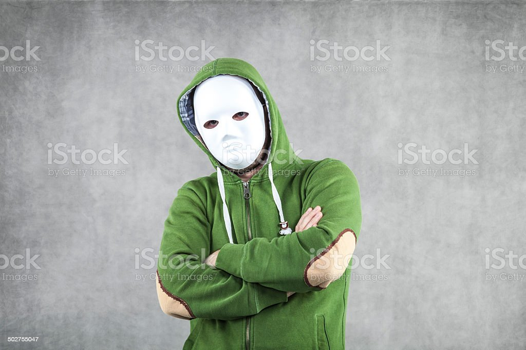 Dodger in the mask stock photo