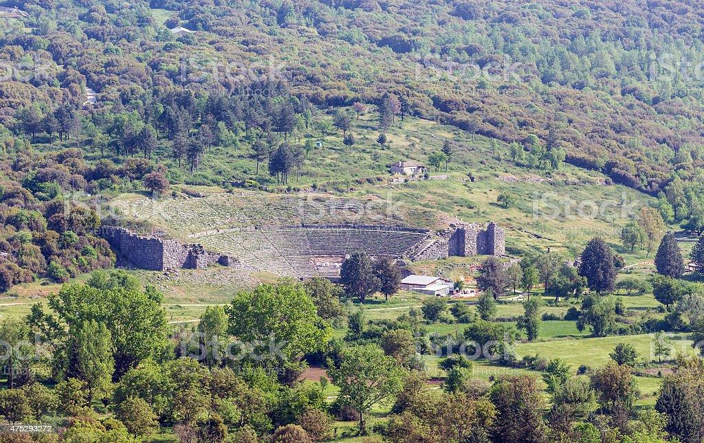 Dodoni ancient theatre, Epirus, Greece stock photo
