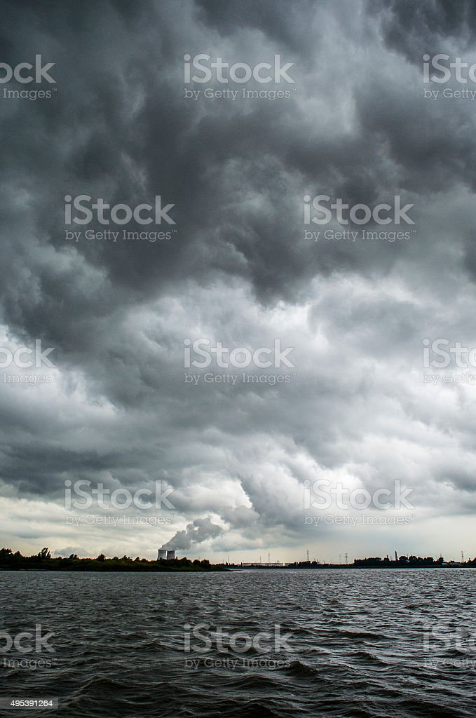 Doel Nuclear Plant royalty-free stock photo