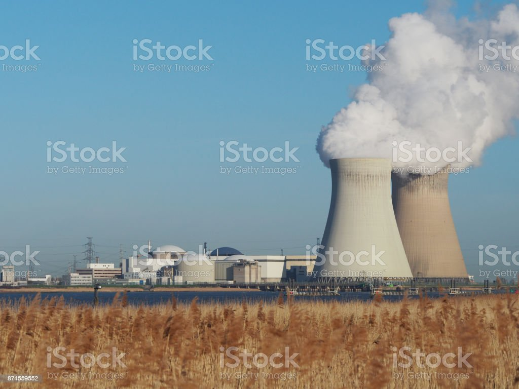 Doel nuclear power plant. stock photo